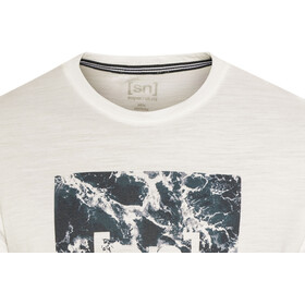 super.natural Digital Graphic Tee 140 Men Fresh White/Logo Waves Print